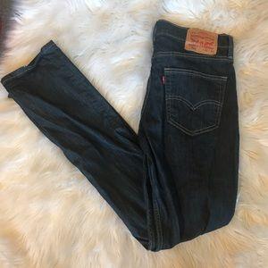 Men's Dark denim Levis 511 jeans